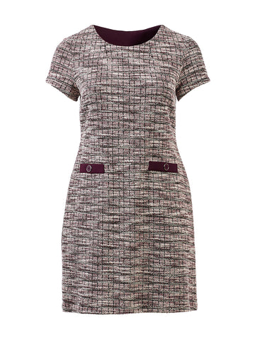 Pocket Detail Plum Dress