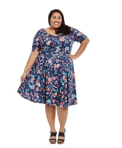 Fit and Flare Ditsy Floral Dress