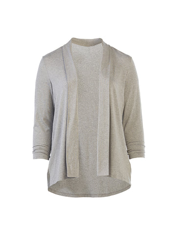 Heather Grey Open Cardigan