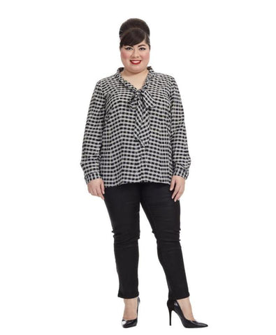 Blouse In Black & White Check