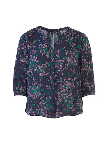Fairfield Floral Pintuck Top