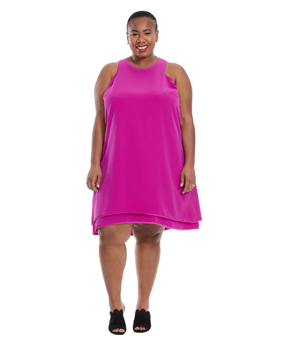 Double Layer Dress in Orchid