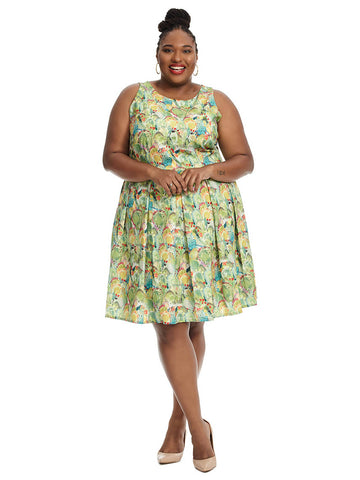 Winnie Dress In Cactus Print