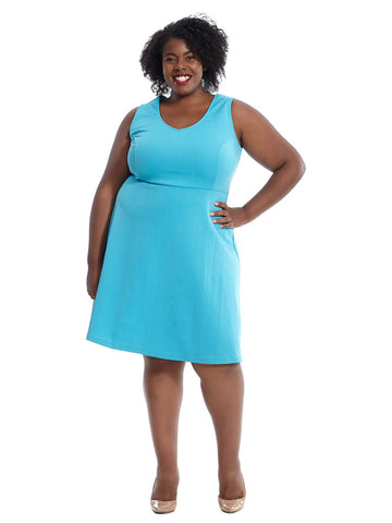 Kacey Dress In Turquoise Reef