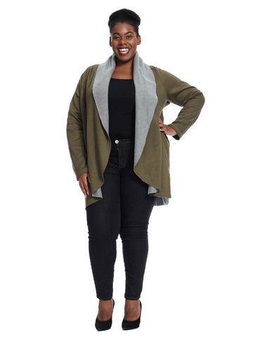 Cozy Cardigan In Army