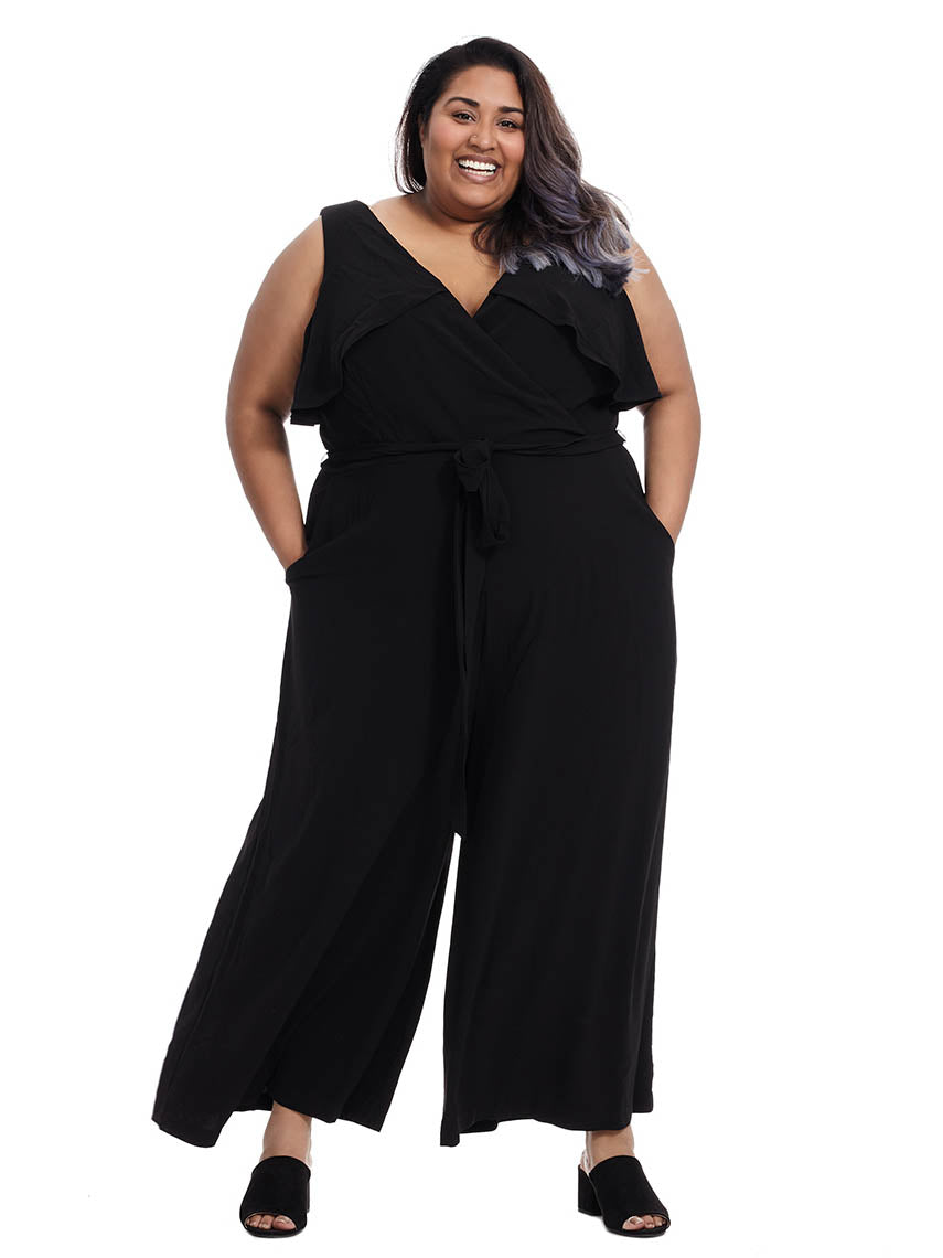 e6f2ebbfe22 Belted Jumpsuit With Ruffle Detail