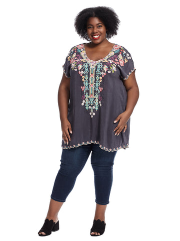 Graphite Petunia Tunic Top