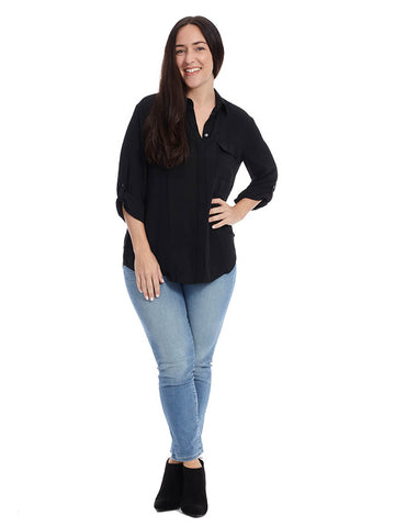 Utility Blouse In Black