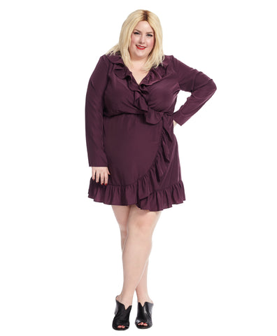 Malia Dress In Black Cherry