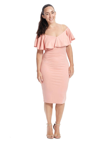 Sophia Dress In Rose Pink
