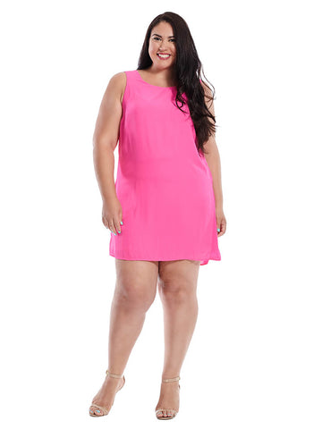 Sleeveless Dress In Hot Pink