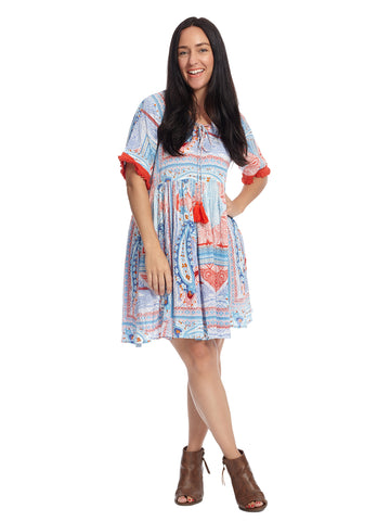 Monroe Rayon Crepe Fit And Flare Dress