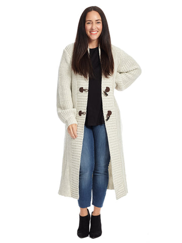 Toggle Buttons Long Cardigan