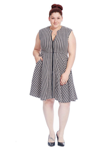 Varo Dress In Houndstooth