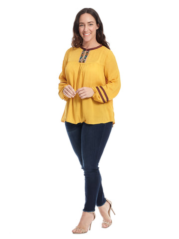 Long Sleeve Mustard Top