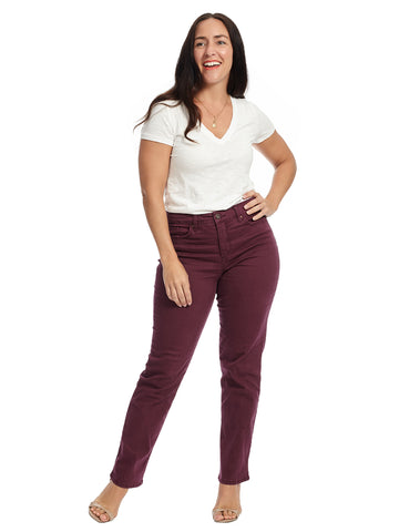 Cabernet Fig Color Mandie Jeans
