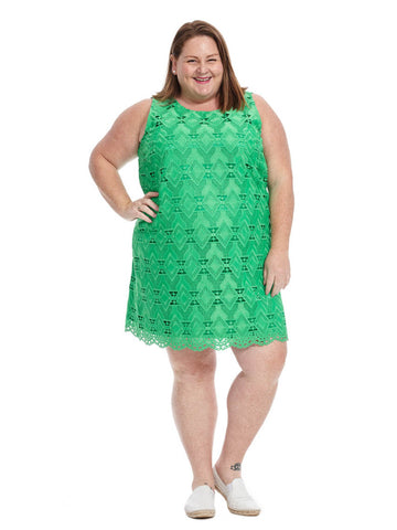 Shift Dress In Green