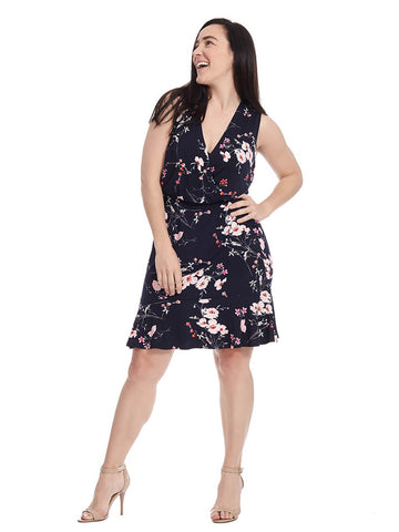Floral Print Dress With Ruffle Hem
