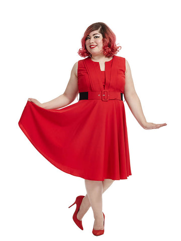 Vintage Veronica Dress In Red