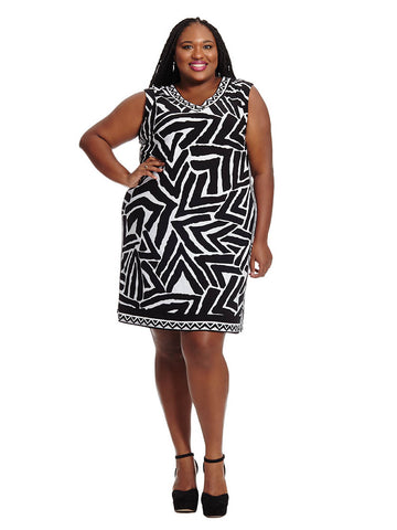 Zebra Chevron Sheath Dress