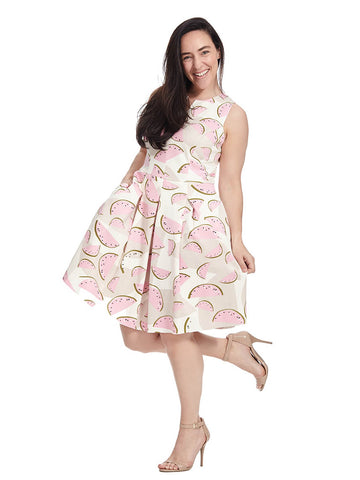 Tessa Dress In Watermelon Print