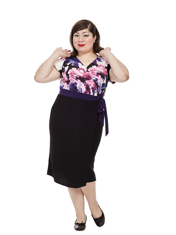 Braylee Dress In Purple Floral