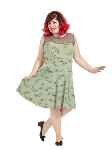 Jackie Dress In Airplane Print