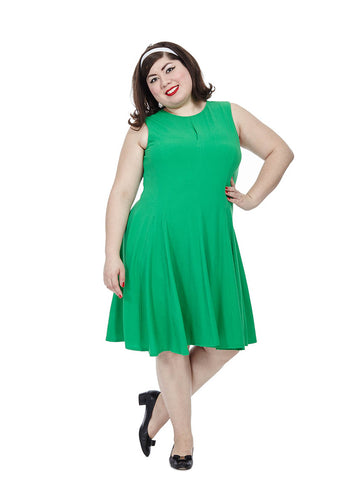 Swing Dress in Emerald