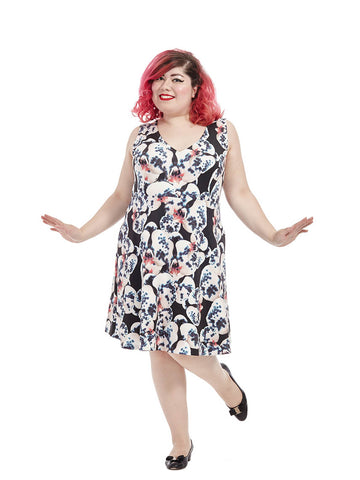 Abstract Floral Kacey Dress