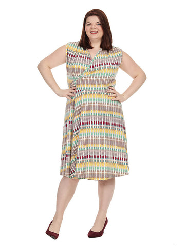 Theresa Dress In Kaleidoscope Print