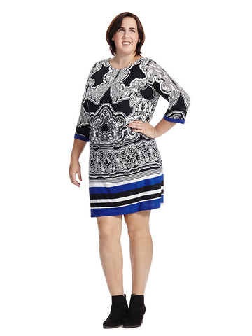 Paisley Top Sheath Dress