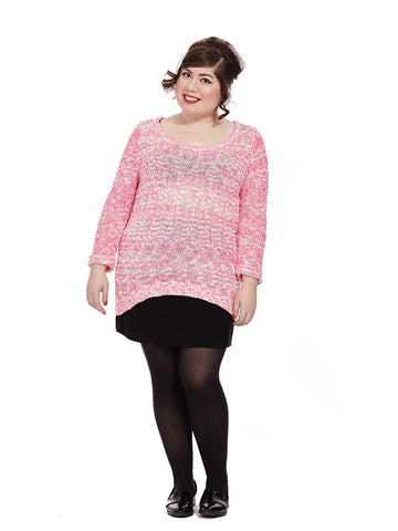 Fluro Fun Sweater In Hot Pink
