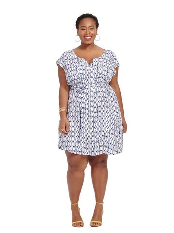 Andela Inkblot Print Shirtdress