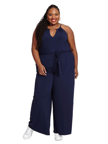 V-Neck Bar Jumpsuit