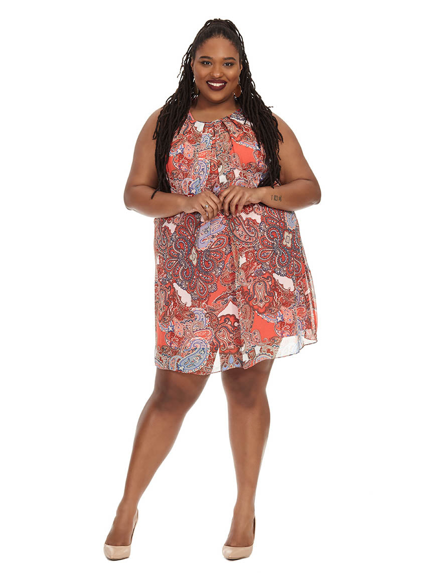 1d8170e8e7a6 Paisley Print Swing Dress | Jessica Howard | Gwynnie Bee Rental Subscription