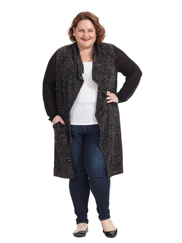 Drape Front Mix Media Duster