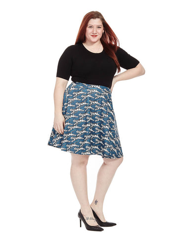 Tiger Printed Skater Skirt