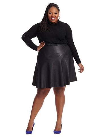 Faux Leather Dancer Skirt
