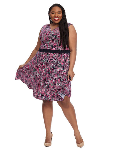 Pink & Purple Print Dress