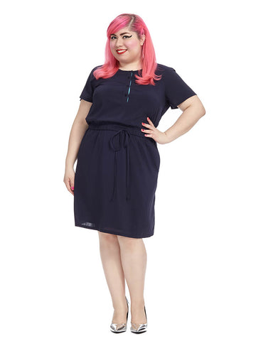 Jaime Dress In Darkest Indigo