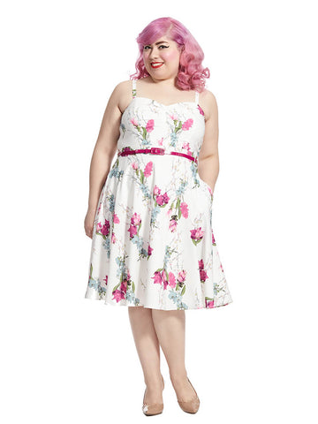 Open Rose In Vintage Posey Dress