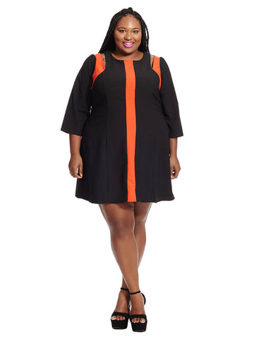 Contrast Splice Tunic Dress
