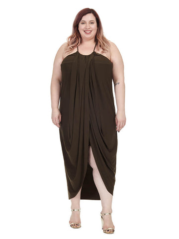 Slinky Wrap Maxi Dress