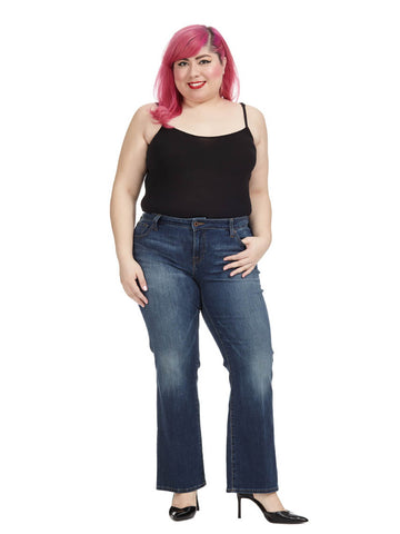 Ginger Bootcut Jean In Amazonite- Petite