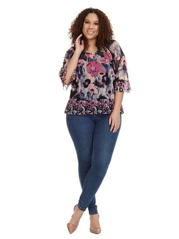 Peasant Top In Romance Floral