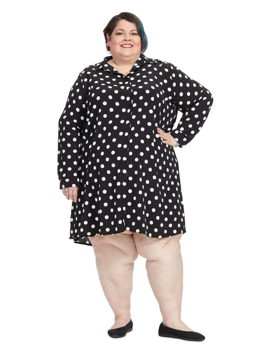 75fe822e5 Polka Dot Button Down Shirt Dress | Alice & You | Gwynnie Bee Rental ...