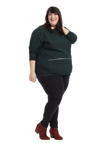 Equator Sweater In Dark Green