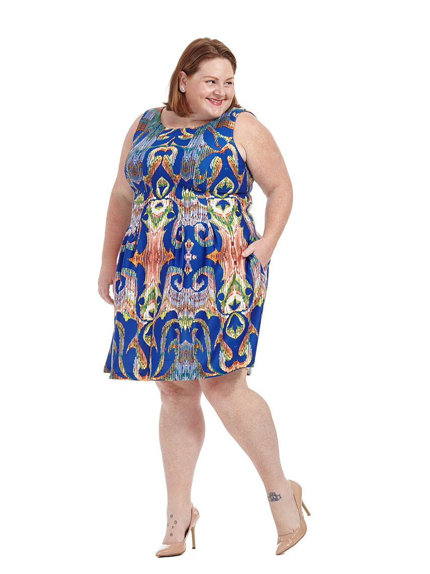 ba20966663e2 Kaleidoscope Print Dress In Periwinkle