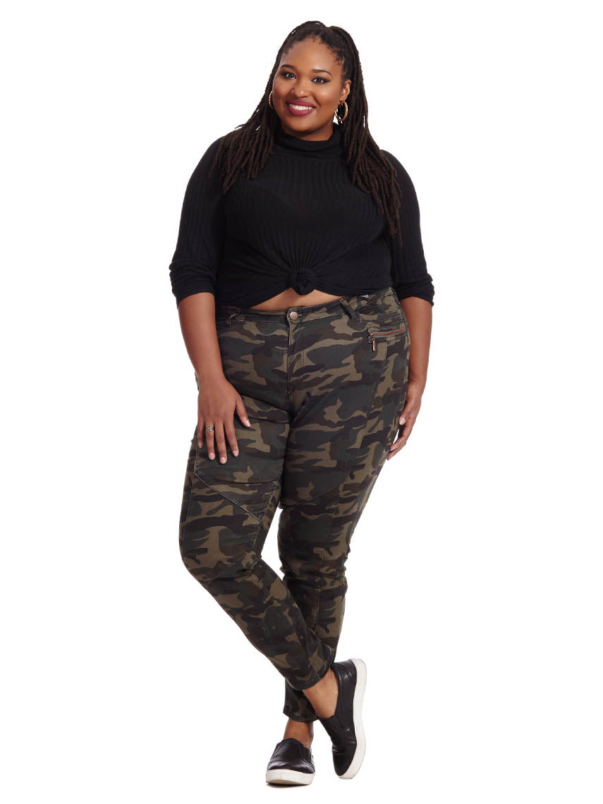 22be4d37e4cd8 Camo Cadet Cargo Pant | City Chic | Gwynnie Bee Rental Subscription