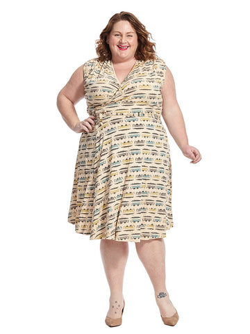 Theresa Dress In Trolley Print